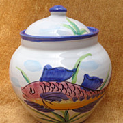 Vietri - Al Mare - Hand Painted Italian Canister - Rare