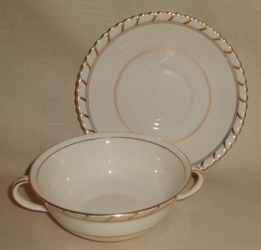 "Johnson Brothers "" Old English "" Pattern Cream Soup Bowl"