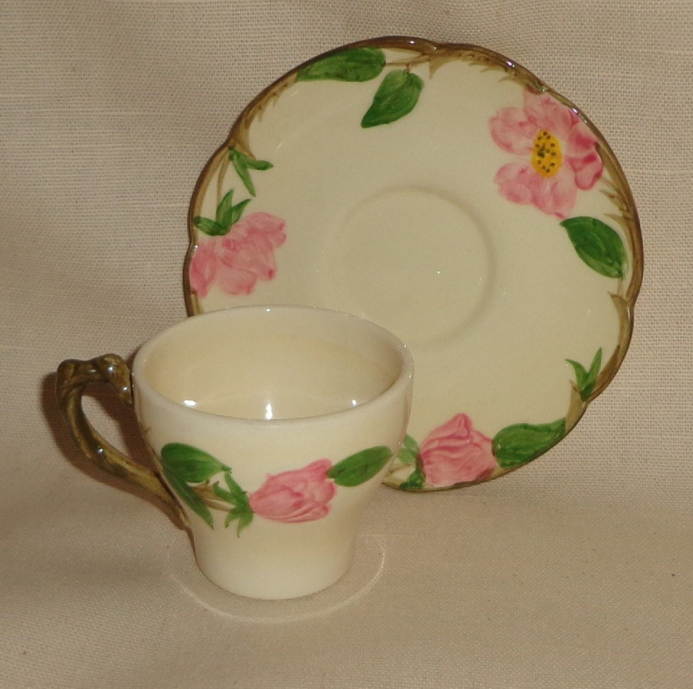 Franciscan Desert Rose Demi Cup & Saucer Set - Rare