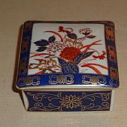 Gold Imari Hand Painted Trinket Box