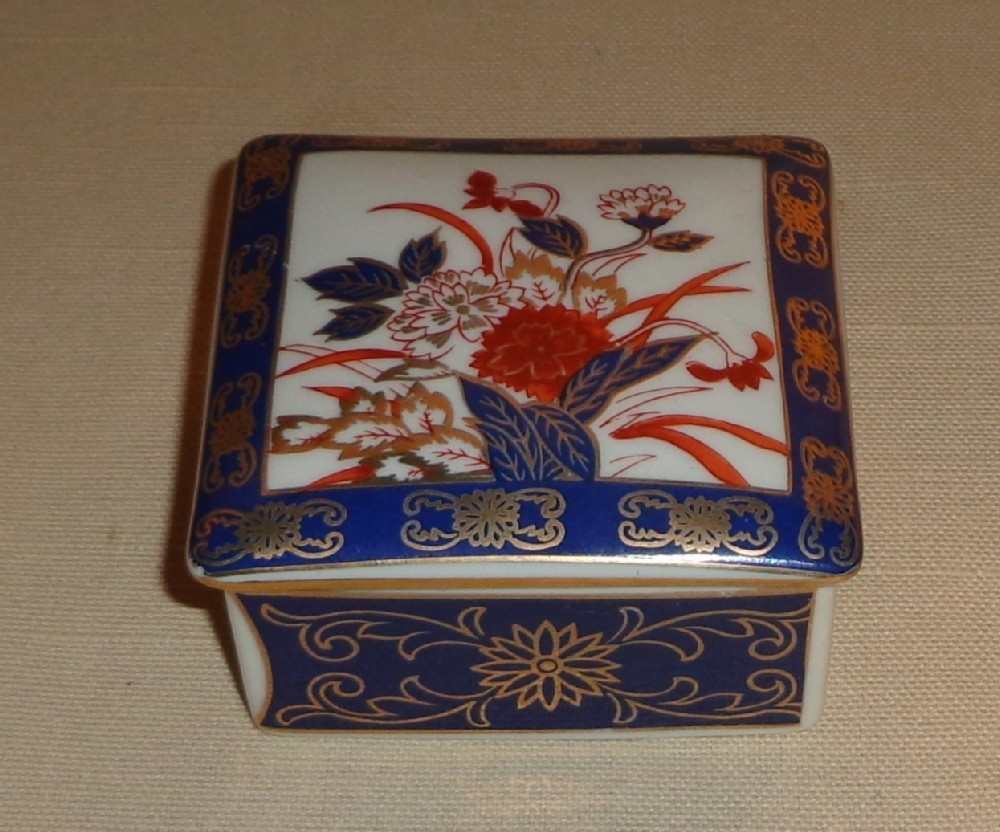 Gold Imari Hand Painted Trinket Box