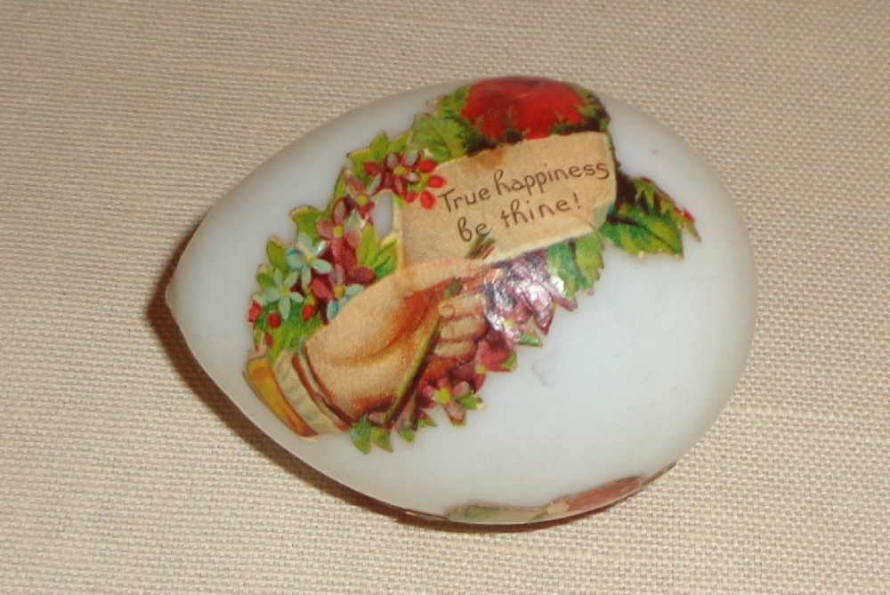 Hand Blown Milk Glass Easter Egg