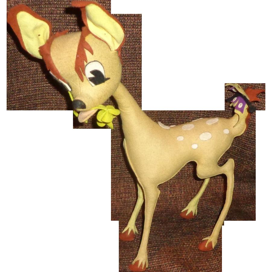 Rare 1960's Posable Bambi Deer Doll - Japan