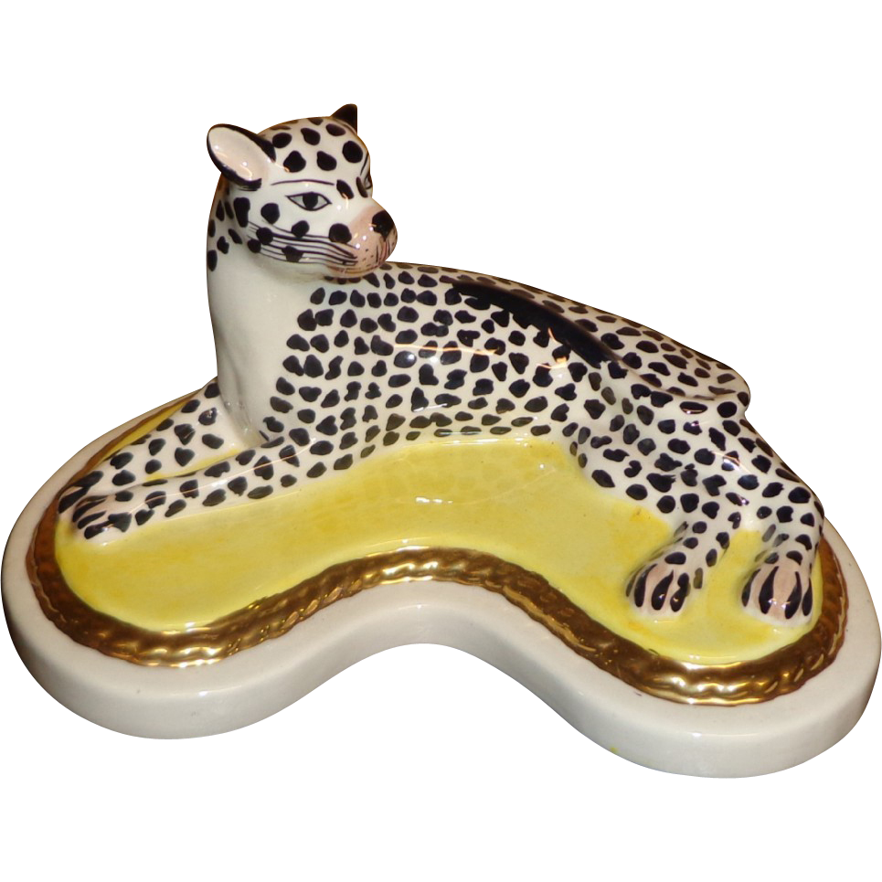 Jeanne Reed's - Cheetah Figurine - Fine Porcelain - Made in Italy