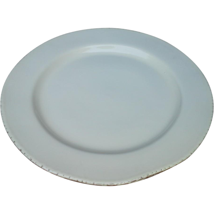 "Vietri - 12"" Dinner Plate/Charger - Cucina Fresca - Cream/Yellow"