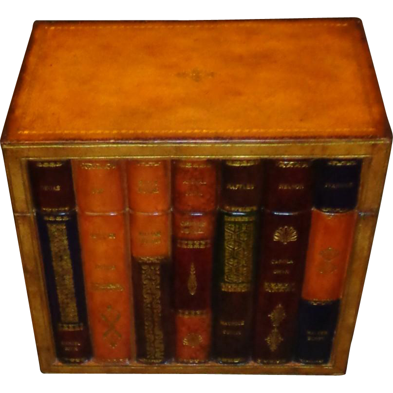 Vintage Maitland Smith - Leather Antique Book Box
