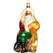 Vintage Radko Santa Claus With List - Large Christmas Ornament