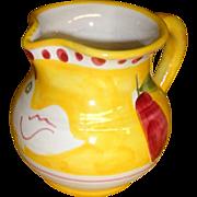 Rare -  Vietri  - Compagna -  Yellow Chick Creamer