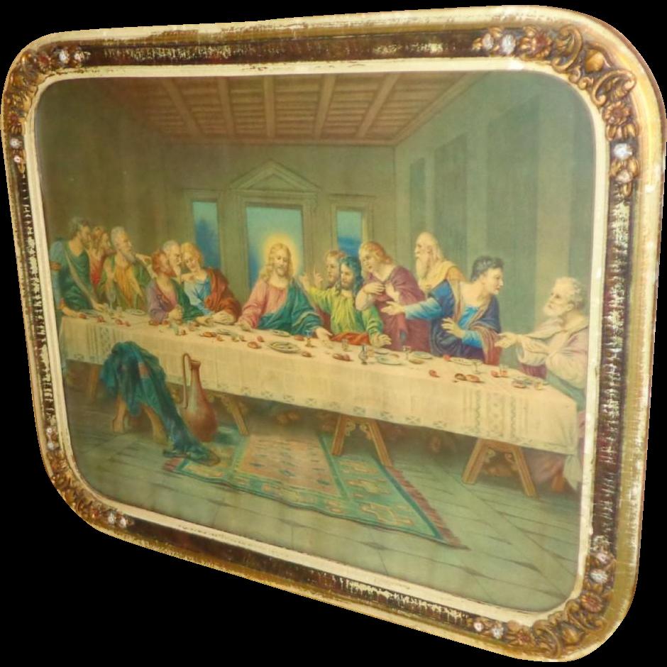 1930's Jesus - Last Supper - Print