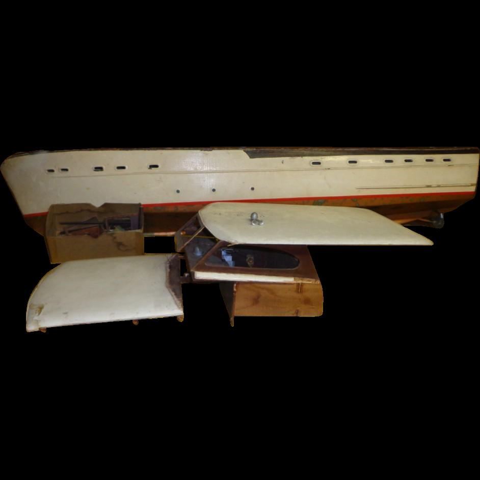 Vintage Chris Craft Sterling Model - Large Boat