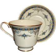 Minton - Grasmere - Fine Bone China - Cup & Saucer - Blue