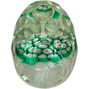 Murano Multi Faceted Art Glass Egg Shaped