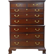 Councill Craftsmen - Solid Mahogany - Chest of Drawers - Circa 1980 - Chippendale Style