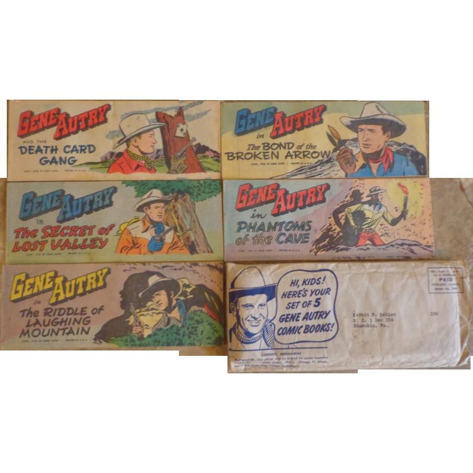 Gene Autry Comics - Quaker Puffed Wheat/Rice Promo Set - 1950