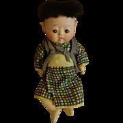 Vintage Oriental/Japanese - Gofun Doll - Circa 1930
