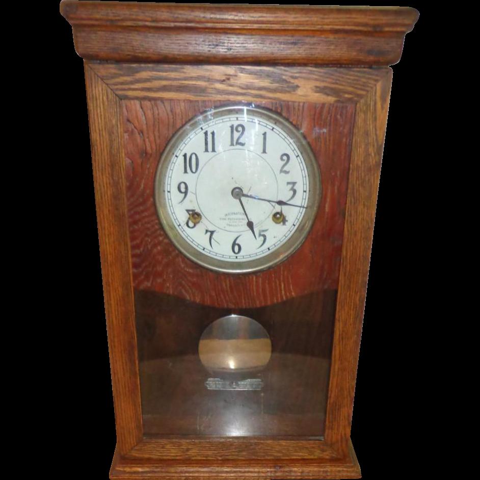 International Time Recording Clock - Endicott New York - Works