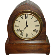 Antique New Haven Mantle Clock With Key - Works