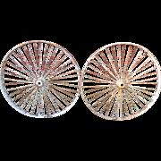 Pair of Vintage Large Iron - Spoke Wheels