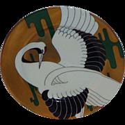 "Fitz & Floyd ""Golden Tancho Stork"" 7 1/2 Plates"