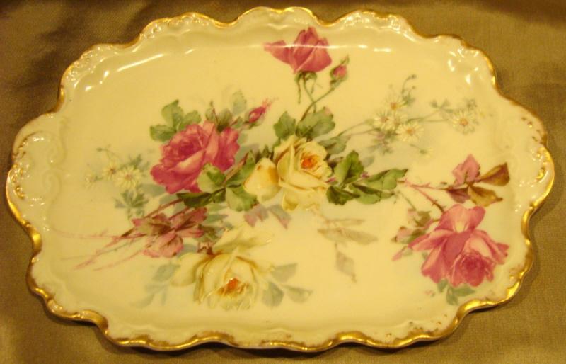 Blakeman & Henderson Limoges Rose Tray