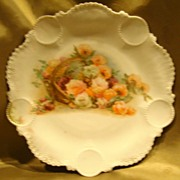 Rare RS Prussia Medallion Basket Floral Plate
