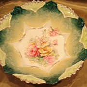 Rare RS Prussia Rose Basket Master Berry Bowl