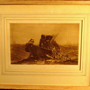 Rare Winslow Homer 1893 Wood Engraving Framed Print