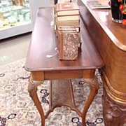 Victorian Solid Mahogany Console/Hall Table