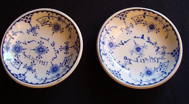 Denmark Blue Flute Butter Pats (2)