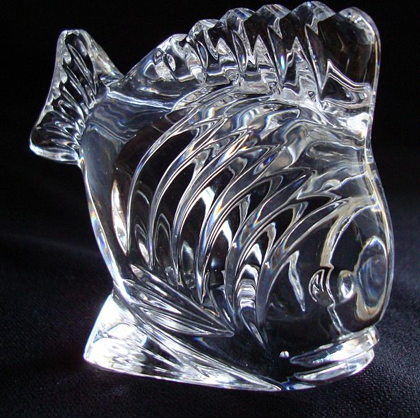 Waterford Crystal Paperweight Fish