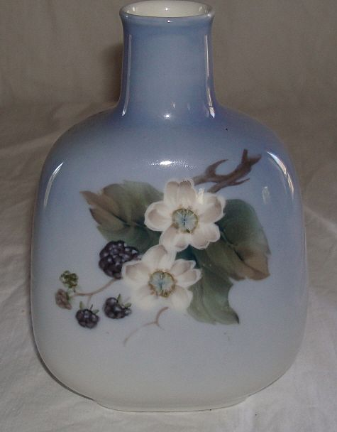 Royal Copenhagen Blackberry Painted Vase