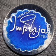 Imperial Glass Company Advertising Paper Weight