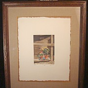 "Bob Timberlake Signed and Numbered Original Etching ""Potted"""
