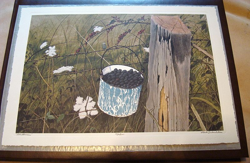 "1977 Limited Edition ""Bob Timberlake"" Print ""Blackberries"""