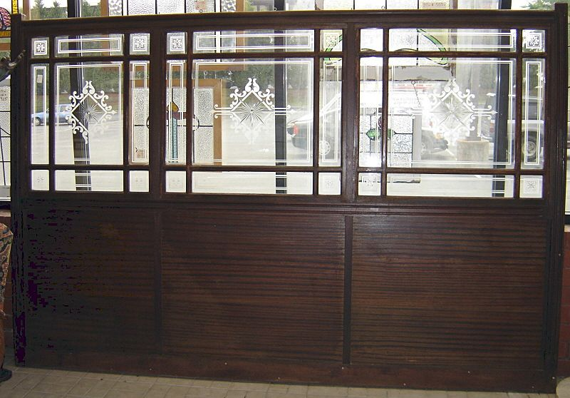 architectural wood glass antique bar wall divider from pitkin on