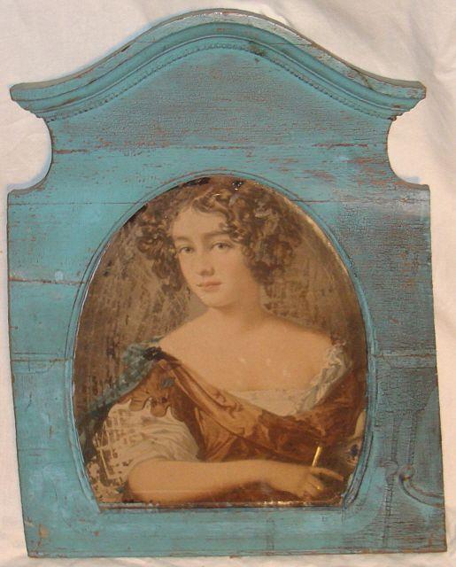 Elegant French Lady Mirrored Portrait