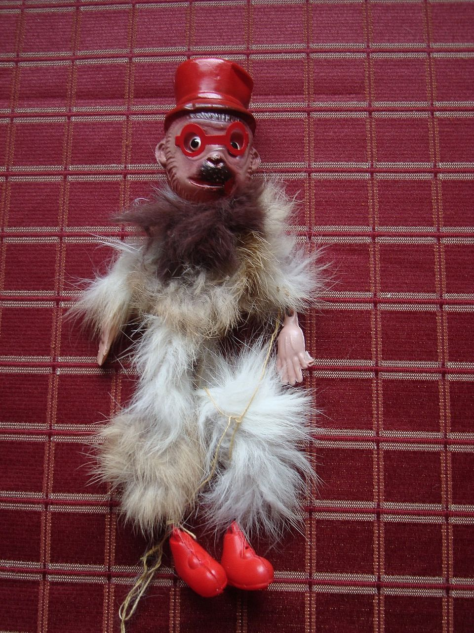 Very Rare Celluloid Carnival Monkey