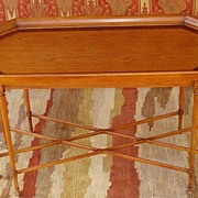 Vintage Hekman Inlaid Wood Tray Style Coffee Table