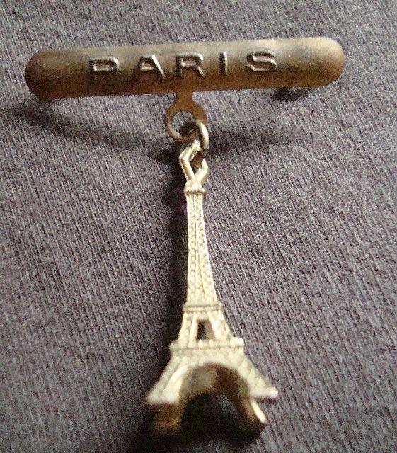 Vintage Paris Eiffel Tower Pin