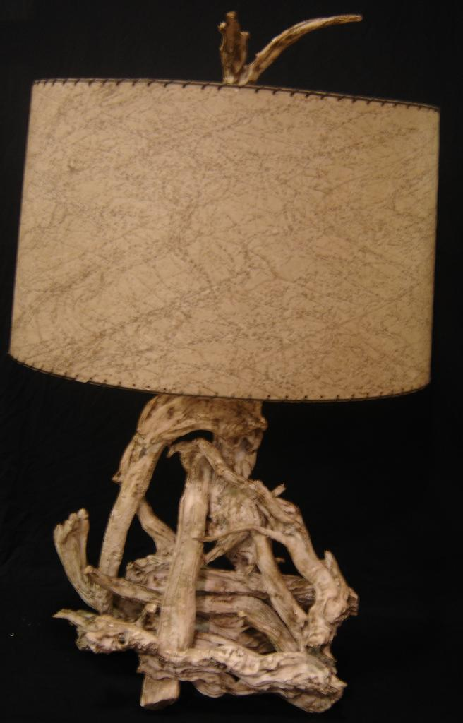 1950's Driftwood Table Lamp