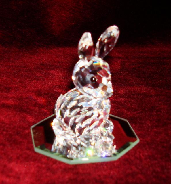 Swarovski crystal rabbit