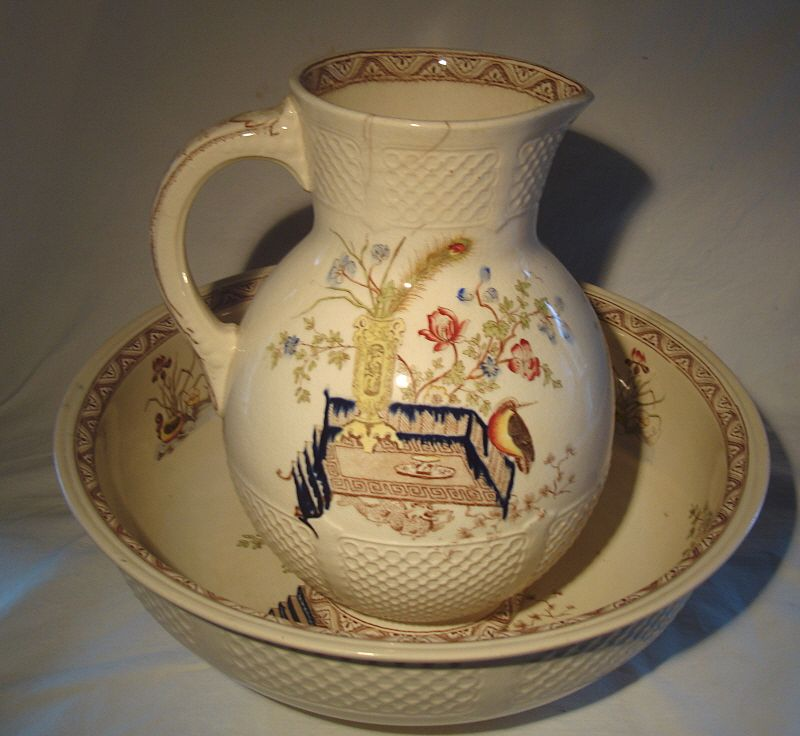 Ridgways Oriental Pitcher and Bowl Set