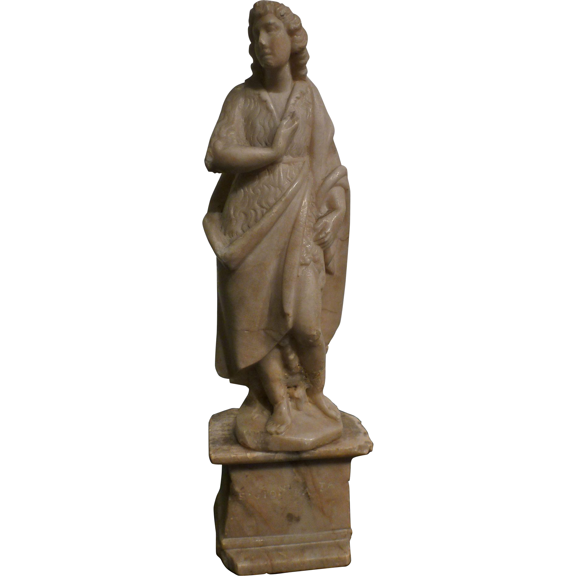 Late 17th, early 18th century Alabaster Statuette of San Giovanni