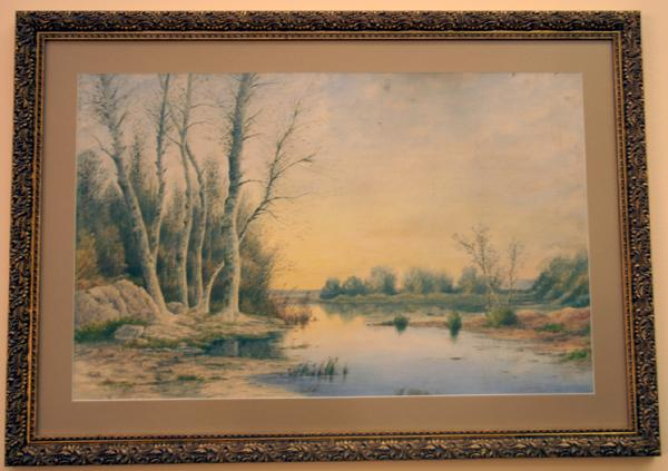 1900 - Barbizon school watercolor