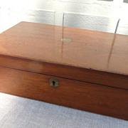 Victorian mahogany lap-desk