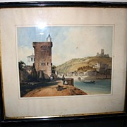19th century - Watercolor by Dubel