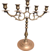 19th century Brass candelabra