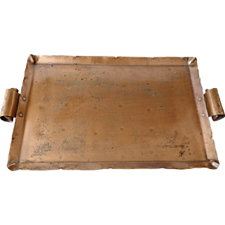 Arts & Crafts style copper tray