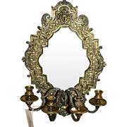 Late 18th/early 19th century gilt bronze Italian mirror