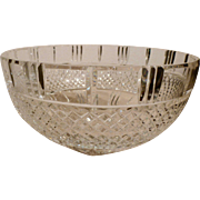 Large cut glass crystal bowl